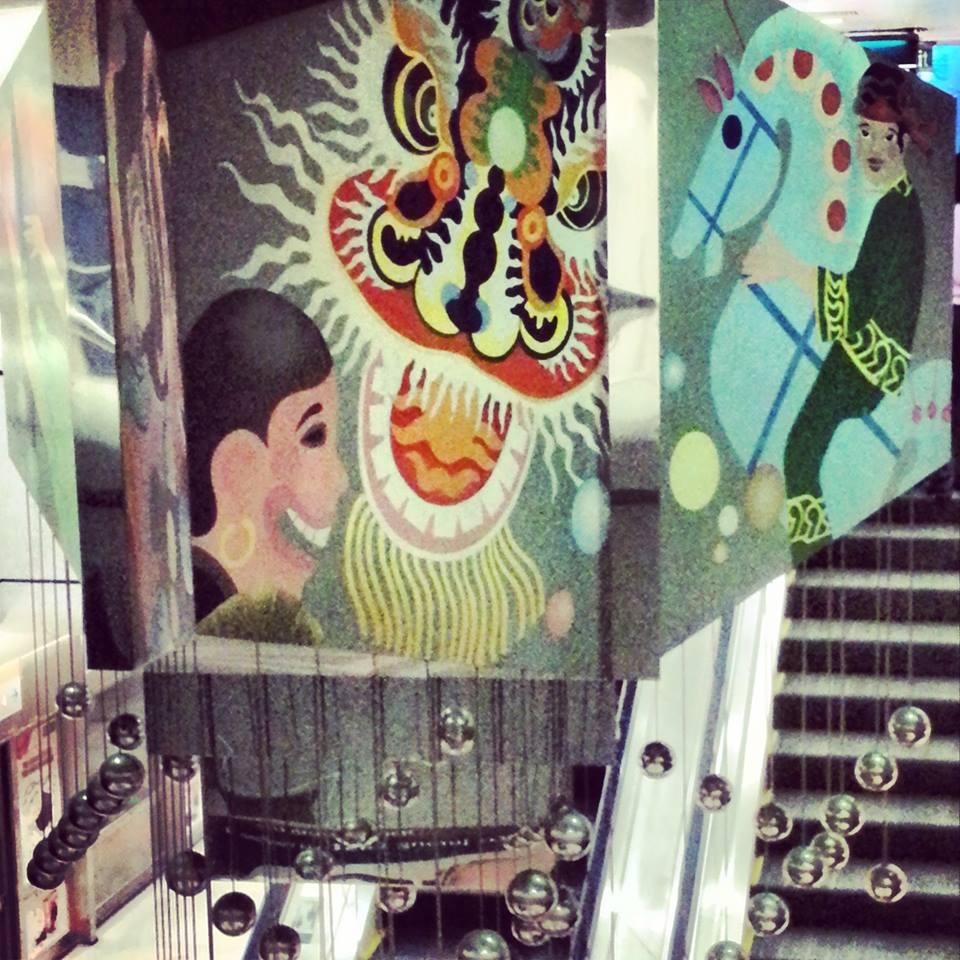 singapour l'art dans le metro